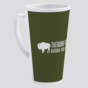 Bison: Theodore Roosevelt, North D 17 oz Latte Mug